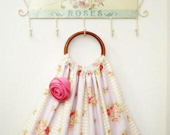 Handmade Reversible Handbag, Craft Bag, Shopping Bag ~ 100% Cotton ~ Flora & Shabby-inspired