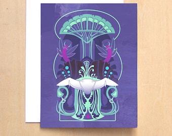 Toxicity- Nausicaa inspired motif blank notecard