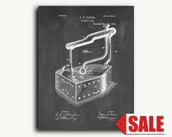 Patent Art - Laundry Iron Patent Wall Art Print