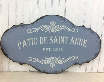 Custom French sign, hand painted custom kitchen sign, personalized castle, Laundry room sign, rustic Paris chic sign, French country sign