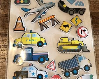 3D Scrapbook Stickers - Kids Cars Planes