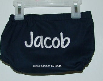 Personalized Navy Diaper Cover