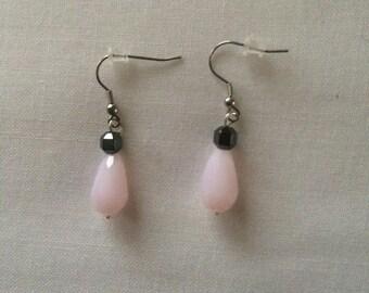fancy pink pierced earrings