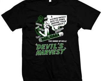 Devil's Harvest - Hand silk screened, pre-shrunk 100% cotton t-shirt