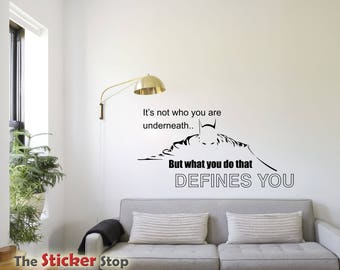 Batman Quote - Wall sticker - It's not who you are underneath - Contemporary - Vinyl Decal - Inspirational