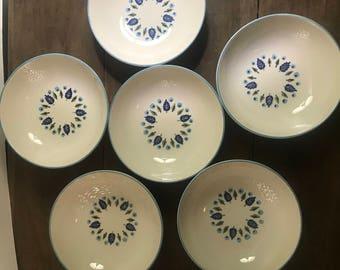 Berry Bowls swiss Alpine Pattern by Marcrest Stetson 1950s