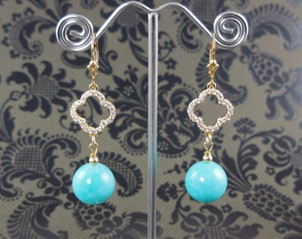 Gold-Filled Amazonite Gemstone Earrings