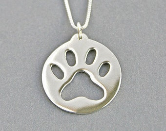 Paw Necklace Paw Print Necklace Paw Print Jewellery Paw Jewelry Charm Pendant Keepsake Necklace Memorial Pendant Pet Memorial Personalized