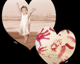 Custom Valentine Cards designed with your child's photograph and art