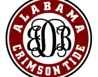 Alabama Crimson Tide Monogram SVG