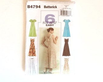 Butterick B4794, Women's Dress Pattern, Size 16, 18, 20, 22, Uncut Pattern