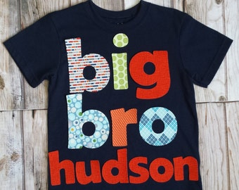 Personalized Big Brother Shirt-Big Bro Shirt-Sibling Shirts-Big Little Shirts-Big Brother T-Shirt-Photo Shoot-Pregnancy Announcement-Big Bro