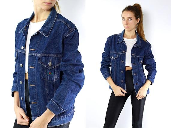 Vintage Denim Jacket / Vintage Jean Jacket / Grunge Jacket / Cropped Denim Jacket / Denim Jacket Charro / Embroidery Jacket / Hipster Jacket