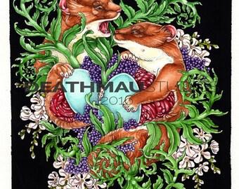The Egg Thieves - Fine Art, Giclee Print