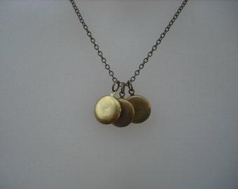 mini locket trio - antique brass