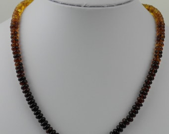 Genuine Baltic Amber beads necklace Honey red blood cognac sun