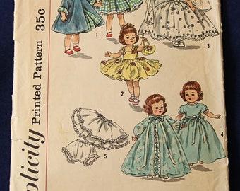 Vintage Simplicity Pattern No. 2294 for Ginny, Alexander-kins, etc.