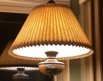 Vintage Mid Century Large Ceramic Swag Lamp by Sunrise Cosco