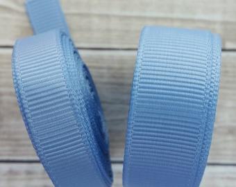 3/8 or 5/8 inch FRENCH BLUE grosgrain ribbon