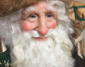 Old World Santa -Handmade Santa -Father Christmas -Nonnas Santas - Santa Claus- OOAK Doll -Handmade Christmas -Nonnas Workshop -Dollmakers