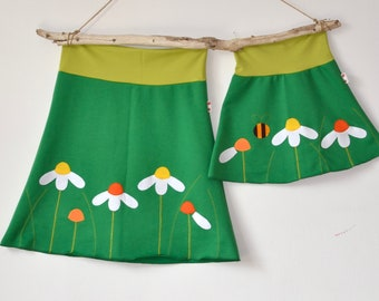 Mommy and me spring outfits, Mommy & Me skirts set, Mother daughter matching outfit,Mother's Day matching,Spring fashion,green jersey