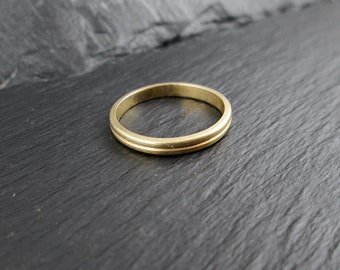 14k Gold Ring Wedding Band | Size 4.25 | Vintage Womens Solid 14k Yellow Gold Ring