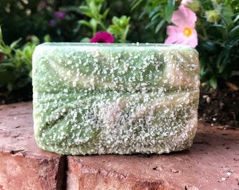 LIME in the COCONUT Sea Salt Soap, Handmade Soap, Cold Process Soap, Detoxing Soap