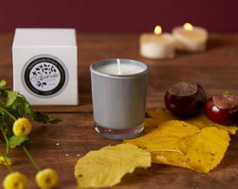 Natural scented votive candle with Lemon and Verbena essential oils. Perfect present idea for bridal shower, hen party gift set