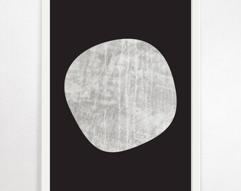 Minimalist Print, Monochrome Art, Abstract Print, Abstract Wall Art, Abstract Art Print, Scandi Design, Contemporary Art, Modern Art, Large