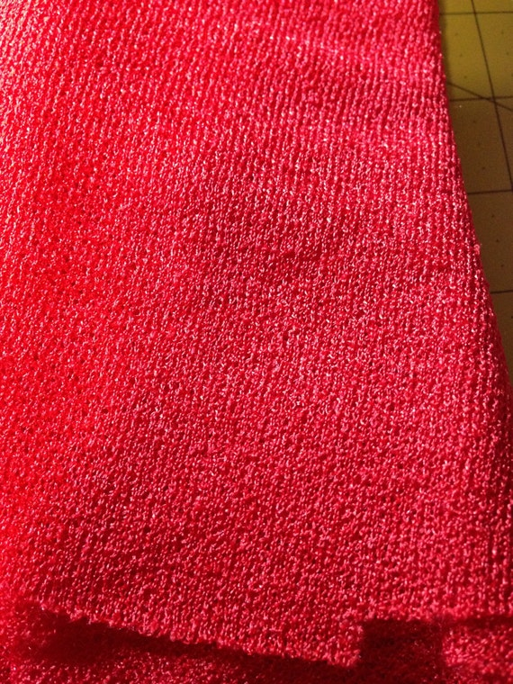 Red Polyester Fabric F14