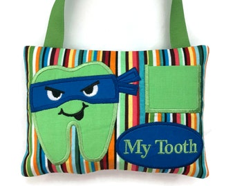 Boys Tooth Fairy Pillow - Ninja Tooth Pillow - Child's Tooth Fairy - Tooth Pillow Boy - Lost Tooth Pillow