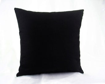 Black throw pillows, Black solid pillow, Solid black pillow, Black cushion cover, 16x16 18x18 20x20 cushions cover pillow cases pillowcases