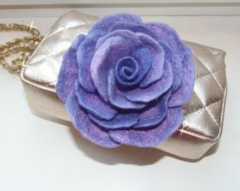 Rose Brooch Rose Jewelry Felted Flower Brooch, Felted Rose Felt Brooch Wool Flower Gift for her