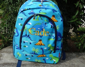 Personalized Boys Backpack-  BOYS BOOKBAG  DINOSAUR Backpack