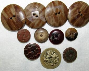 Vintage Composition Button Lot