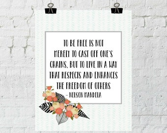 Nelson Mandela, Inspirational Quote, Wall Art Quotes, Printable Wall Art, Instant Download, The Copper Anchor, Adoption Fundraiser