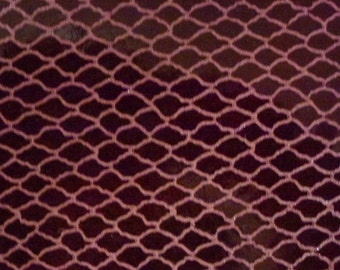 "Leather CLOSEOUT 12""x12""  Patent FISHNET Burgundy printed Cowhide #345 3-3.5 oz / 1.2-1.4 mm PeggySueAlso™ E2988-12"