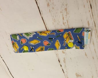 """School Supplies Long Needle Cozy DPN Holder - needle project holder 9""""x2"""" - (Hold up to 8"""" Needles) NCL0044"""