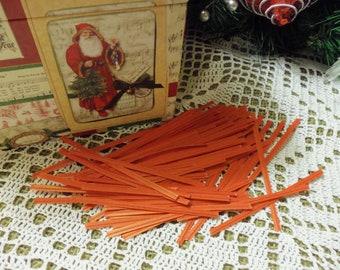 "50 Red Twist Ties, Red Paper 4"" Twist Ties, perfect for treat bags, bakery bags, etc."
