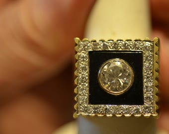 MEN'S 1.73CT DIAMOND RING. Huge look, well done ring.