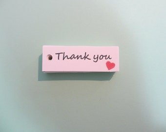 thank you tags - handmade packaging tags - kraft tags