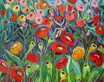 Purple Poppies - Trivet/Coaster/Plaque