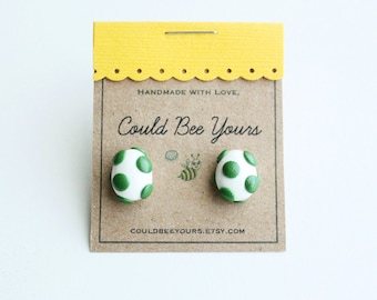 Yoshi Egg Super Mario Nintendo  Earrings