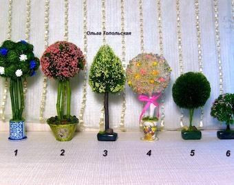 Topiary.Miniature Dollhouse. 1:12 Scale