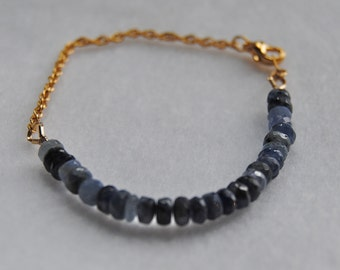 Sapphire and Gold Bracelet