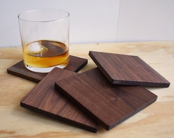 Wooden Coasters Walnut Coasters Wood Coasters Housewarming Gift Wood Gifts