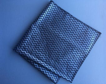 silver metallic zigzag bandana