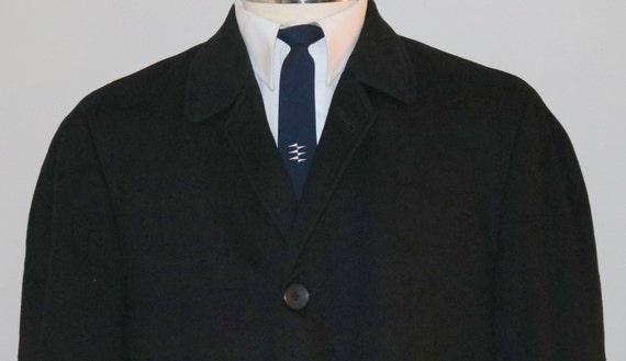 MENS SALE 1960s men's black wool overcoar/ 60s men's black overcoat/ British Walker KsQDFe7