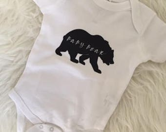 Baby Bear Bodysuit, Gender Neutral, Baby Boy, Baby Girl, Baby Shower Gift