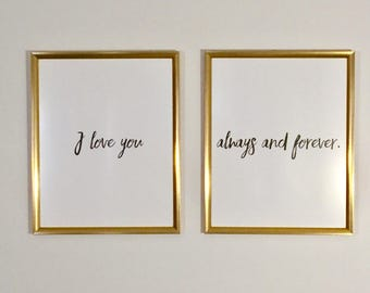 I love you always and forever - Digital Print